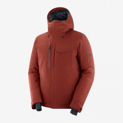 Salomon Arctic Down Jacket M madder brown C13979 pánská nepromokavá zimní péřová bunda