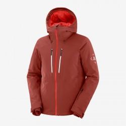 Salomon Highland Jacket M madder brown C13990 pánská nepromokavá zimní lyžařská bunda 1