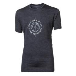 Progress Sullan Compass tmavě šedý melír pánské triko krátký rukáv merino vlna