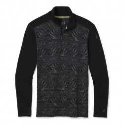 Smartwool M Merino 250 Baselayer Pattern 1/4 Zip black bryan iguchi mountains rolák