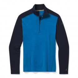 Smartwool M Merino 250 Baselayer 1/4 Zip neptune blue heather pánský rolák