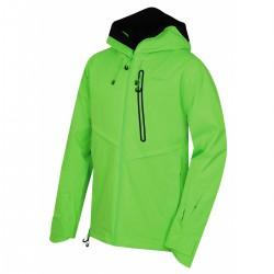 Husky Mistral M neonově zelená pánská nepromokavá zimní lyžařská bunda 1