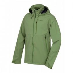 Husky Sauri M tmavě zelená pánská nepromokavá softshellová bunda ExtendPro 15000