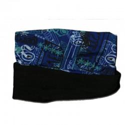 Novia multifunkční šátek fleece 110 modrý zimní tubus