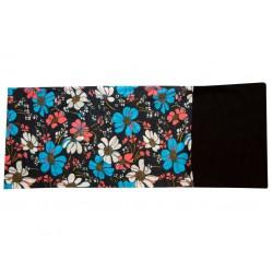Novia multifunkční šátek fleece 105 květinový vzor zimní tubus