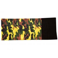 Novia multifunkční šátek fleece 109 maskáč  zelenožlutohnědý zimní tubus