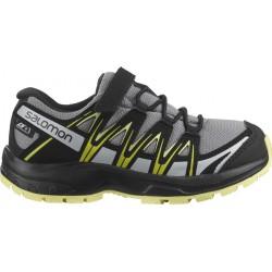 Salomon XA Pro 3D CSWP K monument/black/charlock 413121 dětské nízké nepromokavé boty