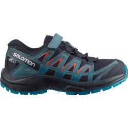 Salomon XA Pro 3D CSWP K navy blazer/mallard blue 406435 dětské nízké nepromokavé boty