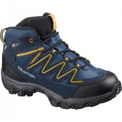 Salomon Skookie Mid CSWP J sargasso sea/navy blazer 411295 dětské nepromokavé trekové boty