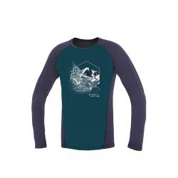 Direct Alpine Furry Long 1.0 petrol/indigo (spot) pánské triko dlouhý rukáv 100% Merino