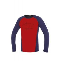Direct Alpine Furry Long 1.0 brick/indigo (peak) pánské triko dlouhý rukáv 100% Merino