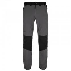 _Kilpi Hosio-M tmavě šedá pánské odepínací turistické kalhoty změřeno
