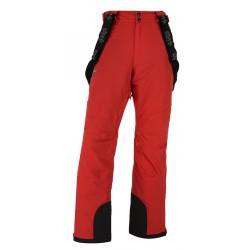 Kilpi Methone-M červená pánské nepromokavé zimní lyžařské kalhoty 20000