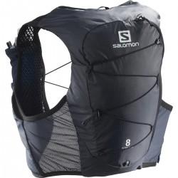 Salomon Active Skin 8 Set ebony C13037 běžecká vesta / batoh + 2 ks měkké láhve