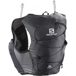 Salomon Active Skin 8 W Set ebony C115149 běžecká dámská vesta / batoh + 2 ks láhve