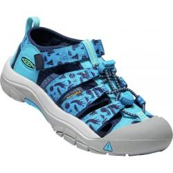 Keen Newport H2 K vivid blue/katydid dětské outdoorové sandály i do vody