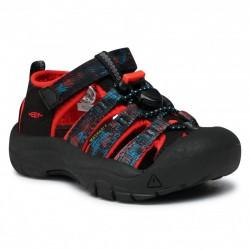 Keen Newport H2 Jr black/orange dětské outdoorové sandály i do vody