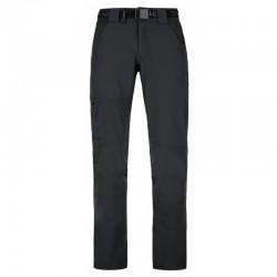 Kilpi James-M černá pánské lehké funkční rychleschnoucí turistické kalhoty1