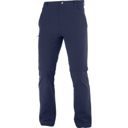_Salomon Wayfarer Zip Off Pants M night sky C15038 pánské odepínací kalhoty změřeno