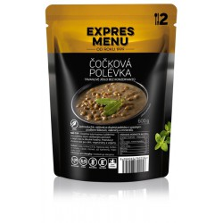 Expres Menu Čočková polévka 600 g 2 porce sterilované jídlo na cesty