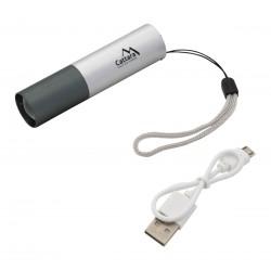Cattara Svítilna kapesní LED 120lm ZOOM nabíjecí USB SILVER 13164 1