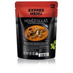 Expres Menu Hovězí guláš 600 g 2 porce sterilované jídlo na cesty, bez přílohy